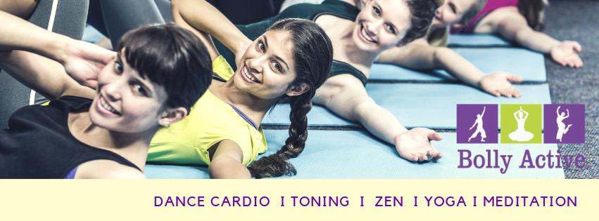 Treningsøvelser på matte i dansefitness time med Bolly Active.