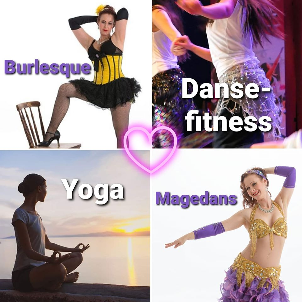 Nye kurs i magedans, yoga, dansefitness og burlesque
